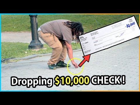 Download Youtube: Dropping $10,000 CHECK Experiment (Social Experiment)