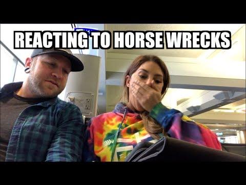 REACTING TO HORSE WRECKS!