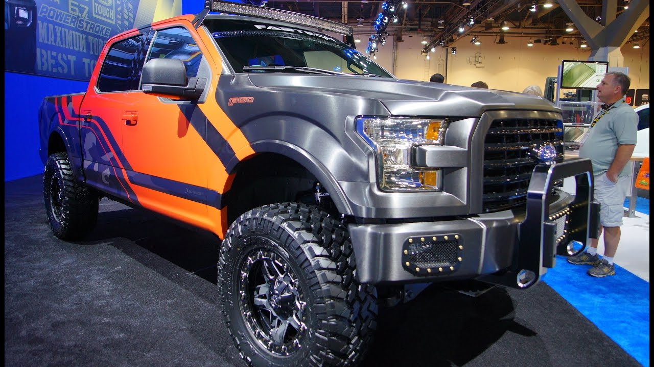 New F150 Ford Trucks >> 2015 Fabtech F150 at SEMA 2014 - YouTube