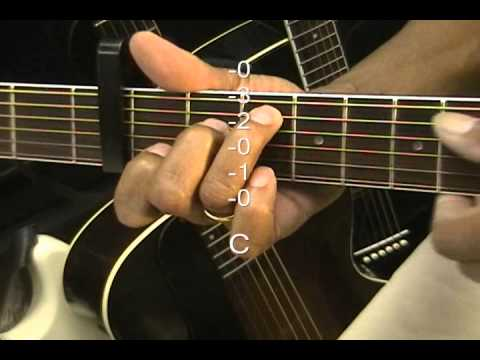 Lefty Guitar Chord Form Tutorial #66L Capo 3 Key C Minor Left Hand ...