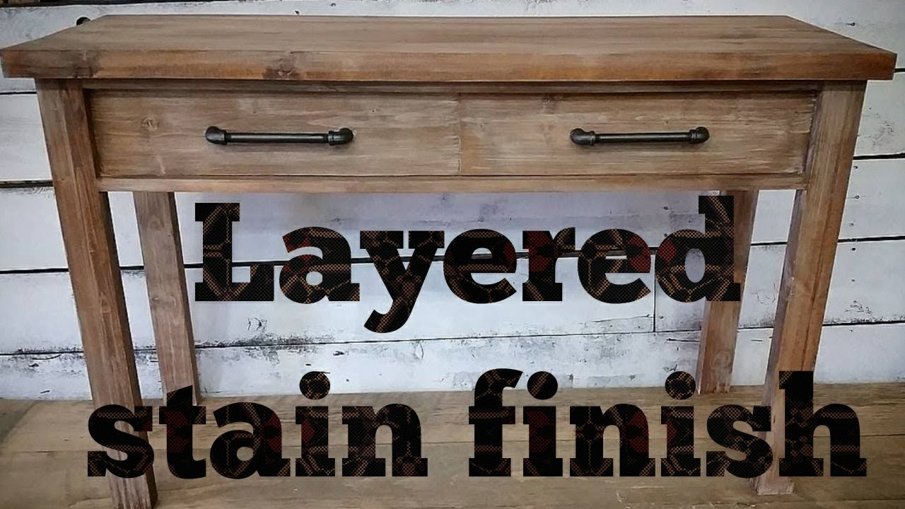 How To Layer Stain And Paint Create This Modern Rustic Finish