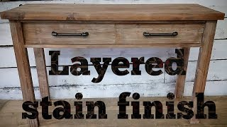 How to Layer stain and paint to create this modern rustic finish!!!!