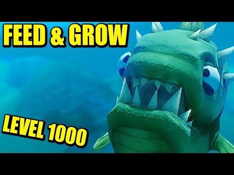 LEVEL 1000!!! FEED AND GROW: FISH | Gameplay Español