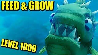 LEVEL 1000!!! FEED AND GROW: FISH   Gameplay Español
