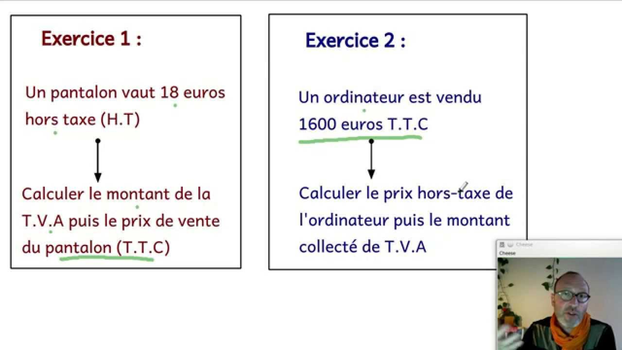 La Tva Comment La Calculer Economie Youtube