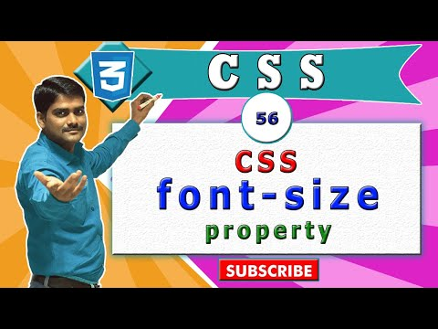 CSS Tutorial 56 - CSS Font-size Property | HTML Size Attribute