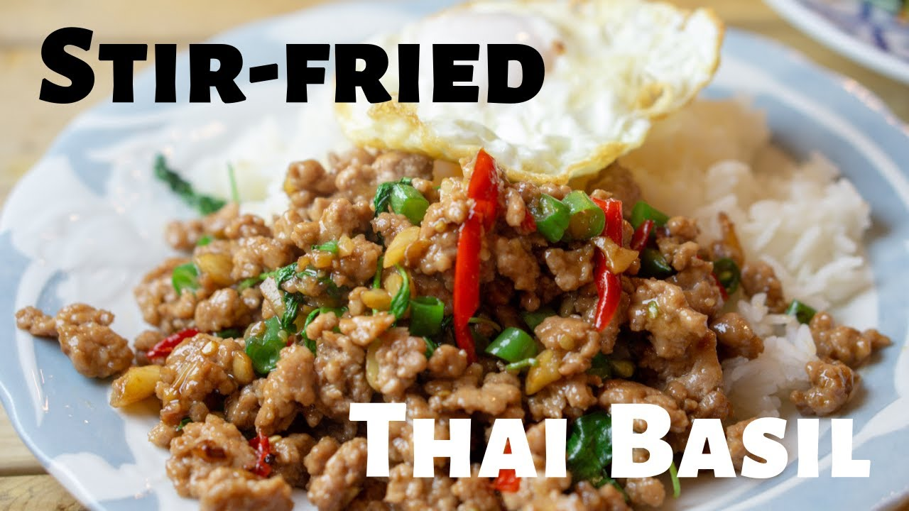 Stir fried Thai Basil | A REAL authentic hot Thai basil over rice recipe