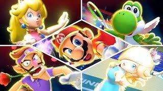 Mario Tennis Aces - ALL Special Shots & KOs! (Broken Rackets)