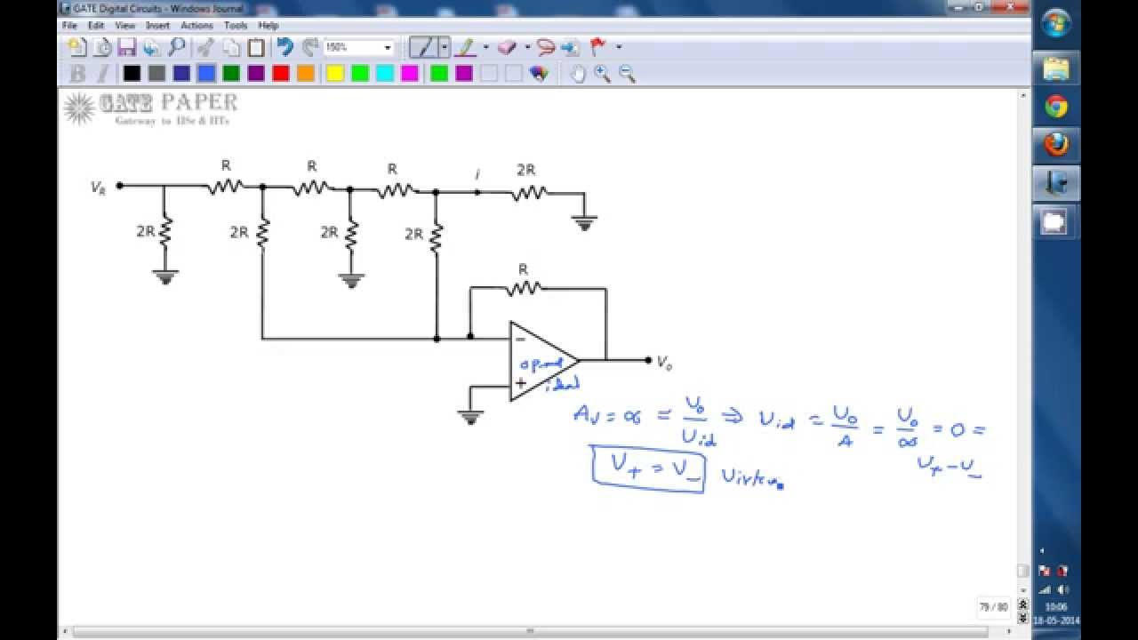 Gate 2007 Ece Output Voltage Of R 2r Digital To Analog Converter Ladder Dac Circuit Diagram