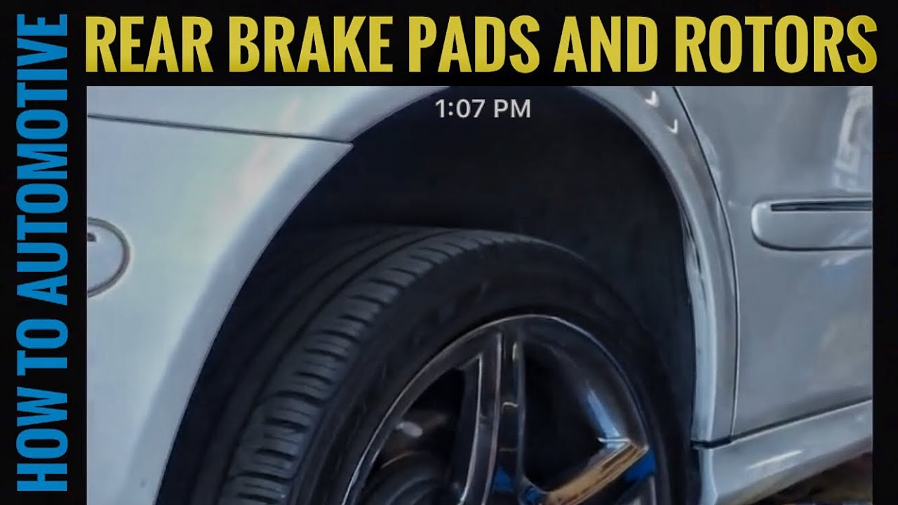 When To Replace Brake Rotors >> How to Replace Rear Brake Pads and Rotors on a 2009 Mercedes E350 - YouTube