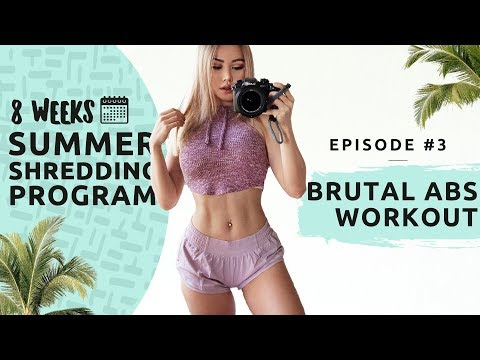 BRUTAL ABS WORKOUT - Summer Shredding EP#3 - 8 WEEKS FREE WORKOUT PROGRAM