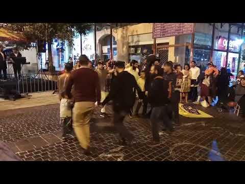 Hassidim dancing in Jerusalem