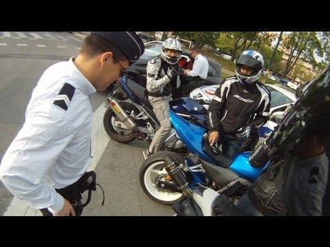 Fin d'une ballade police vs. 4 motards