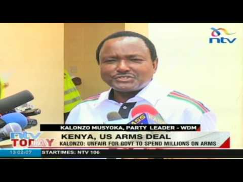 Kalonzo: It's unfair for government to spend millions on arms
