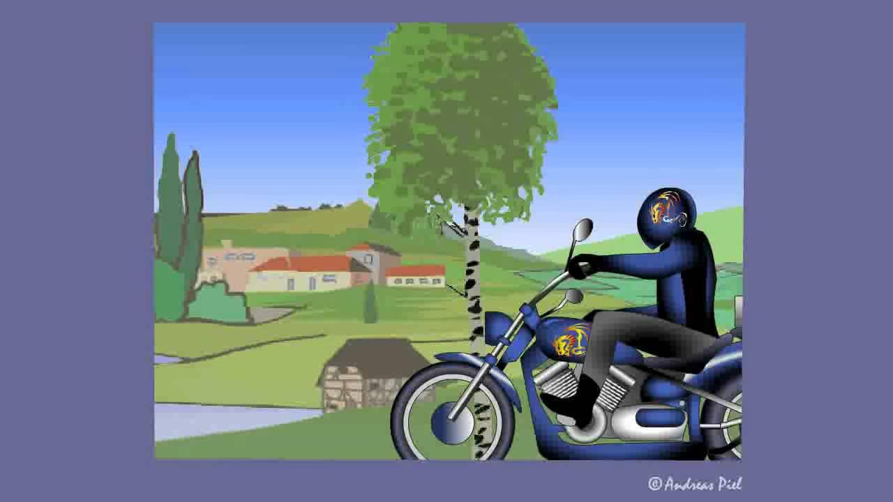 Motorrad E Card Bikerlady Zum Geburtstag Youtube
