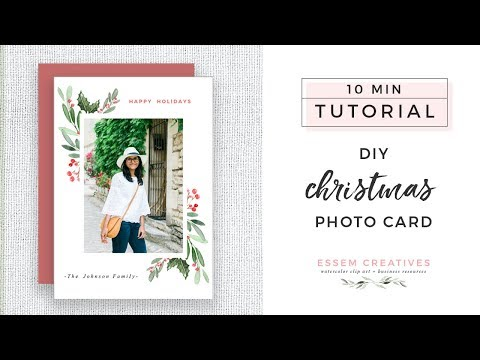 Diy Christmas Card Tutorial On Pages Or Word For Beginners