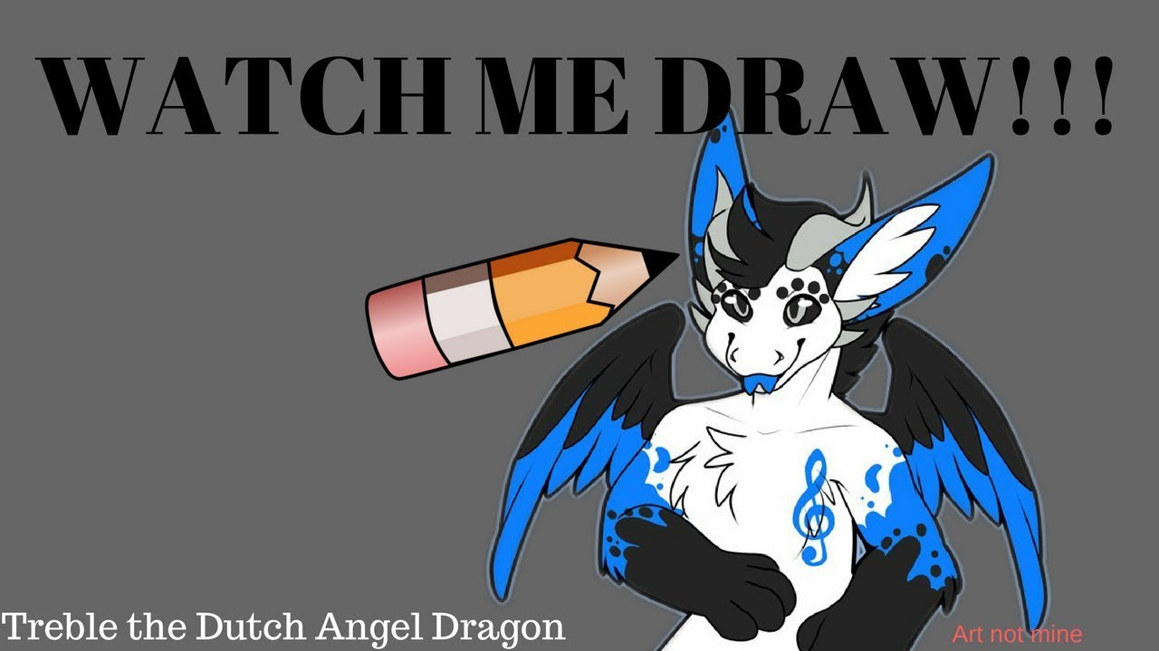 Watch Me Draw Treble The Dutch Angel Dragon Youtube