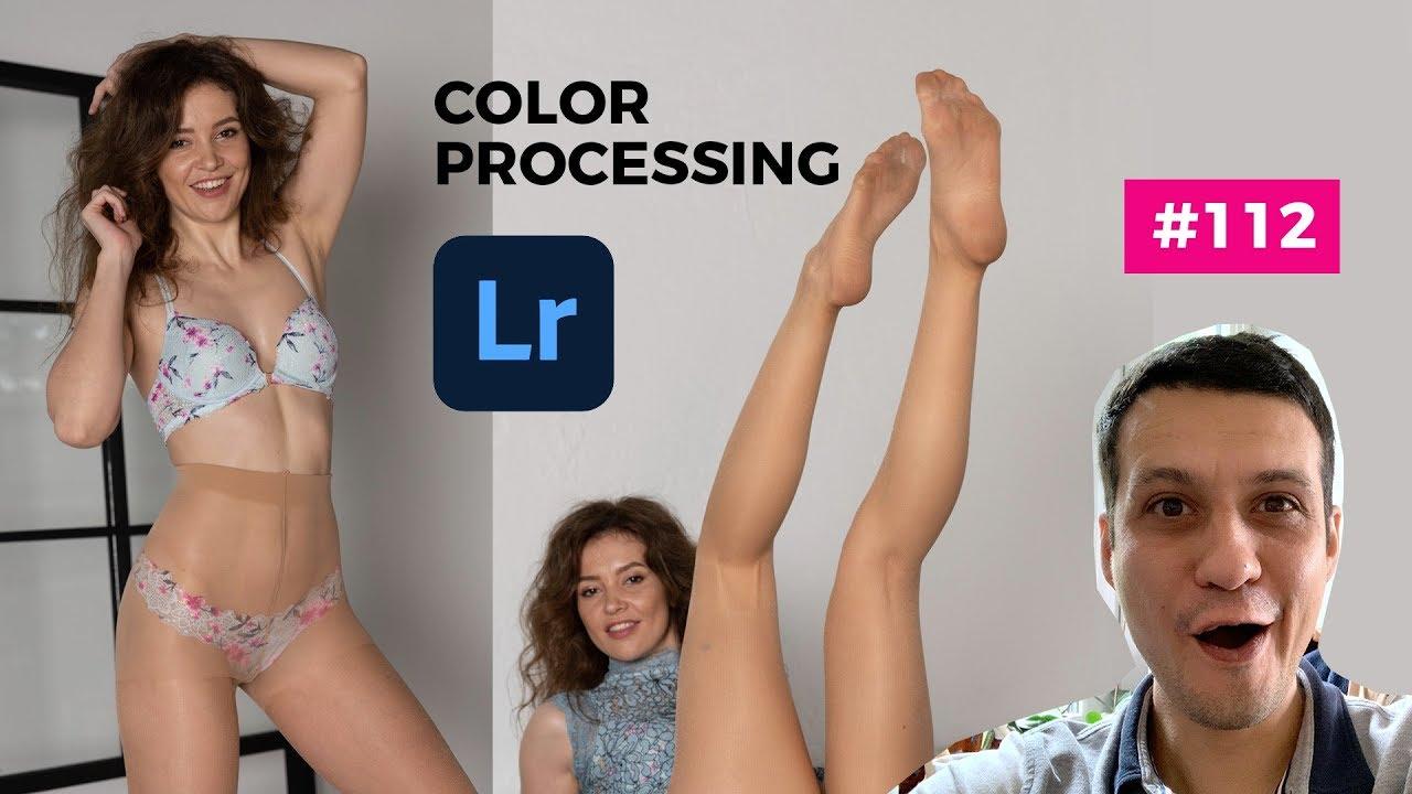 Marina's Funny Session with Pantyhose - Adobe Lightroom Retouch #112 - Art Nylon Magazine