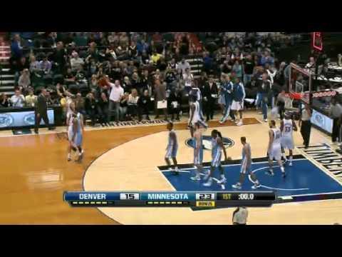 Denver Nuggets vs Minnesota Timberwolves 11/21/12