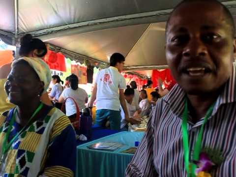 Veg Citizens: Mdme Aminatou (Togo) & Emmanuel (Nigeria) @ 41st IVU World Veg Festival 2013
