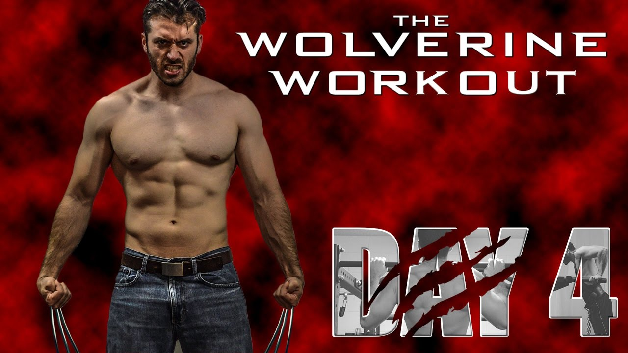 The Wolverine Hugh Jackman's Full Workout Day 4- Chest and ...