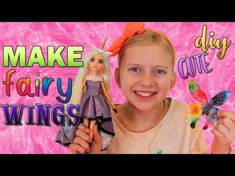 DIY Rainbow Glitter Fairy Wings! Project MC2
