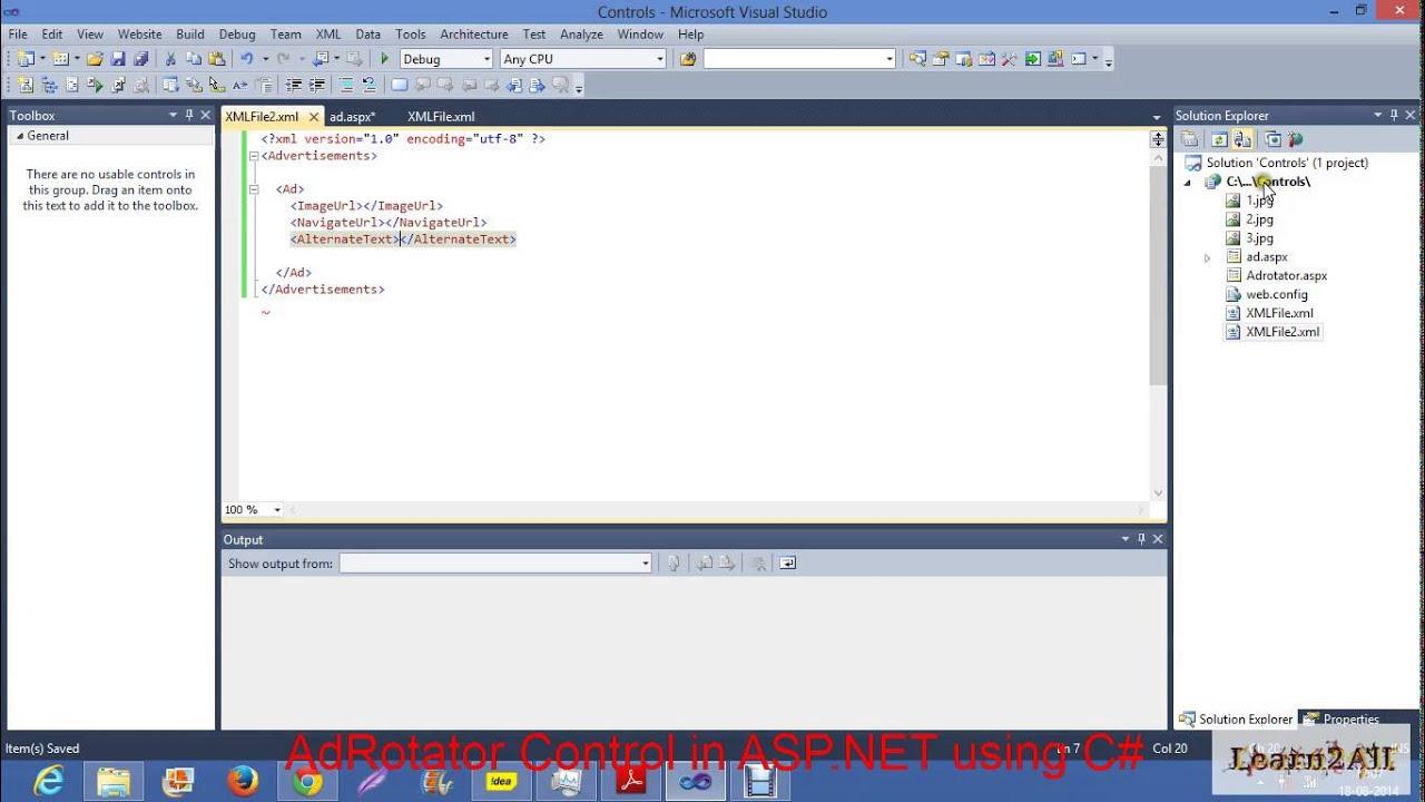 Adrotator control in asp. Net c#.