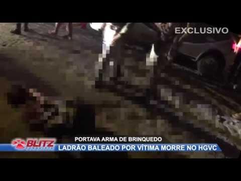 ASSALTANTE BALEADO POR VÍTIMA MORRE NO HOSPITAL