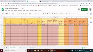 eBay Profit Calculator Spreadsheet Demo and Download