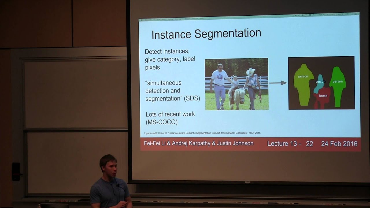 CS231n Winter 2016: Lecture 13: Segmentation, soft attention, spatial  transformers