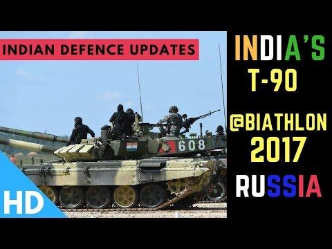 Indian Army's T 90 Bhishma at Tank Biathlon 2017 in Russia