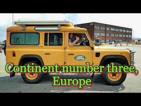 Montreal Canada To Brussels Belgium. Land Rover Defender.