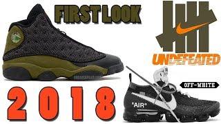 AIR JORDAN 13 OLIVE FIRST LOOK, UNDEFEATED AIR MAX 97 OLIVE, OFF-WHITE AIR VAPORMAX 2018 AND MORE