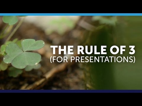 The Rule of Three for Presentations