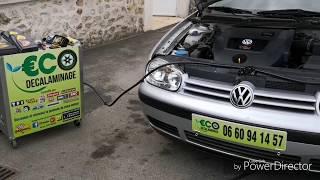 Décrassage sur Volkswagen Golf 4 1,9 TDi 130ch par €CO DÉCALAMINAGE