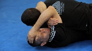 Arm Triangle Choke from Bottom Half Guard | MMA Submissions