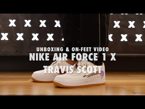 Air Force 1 X Travis Scott Unboxing & On feet Video at Exclucity