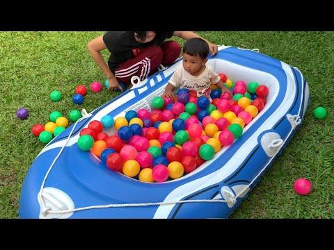 น้องภูมิ | เล่นเรือสนามหน้าบ้าน ทำบ่อบอลในเรือ