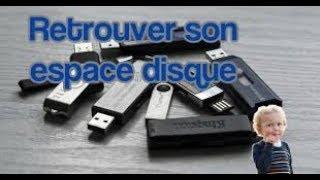 Comment récupérer la capacité d'origine perdue d'une clé USB