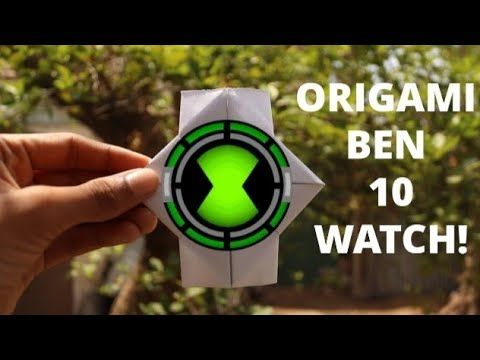 How To Make An ORIGAMI BEN 10 WATCH Using Eva Foam At Home