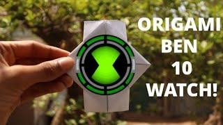 How to make an ORIGAMI Ben 10 WATCH at Home Using Eva Foam