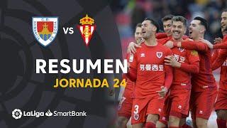 Resumen de CD Numancia vs Real Sporting (2-0)