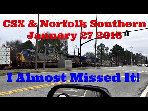 """CSX & Norfolk Southern - """"I Almost Missed It!"""" - January 27, 2016"""