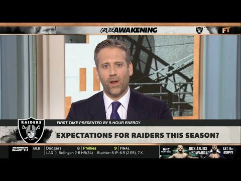 ESPN FIRST TAKE | Max Kellerman STUNNED by Expectations for Raiders this season?