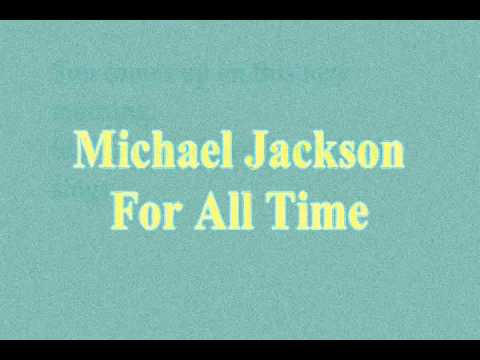 Michael Jackson For All Time Karaoke