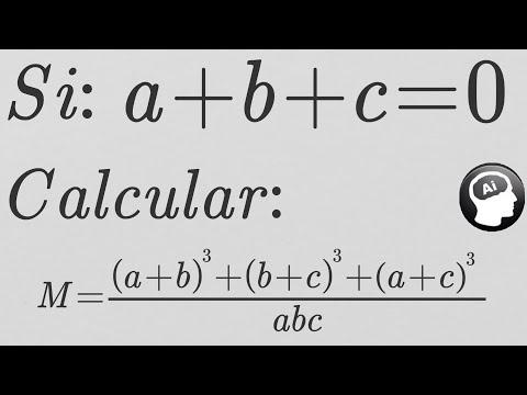 Si a+b+c=0,  a^3+b^3+c^3=3abc