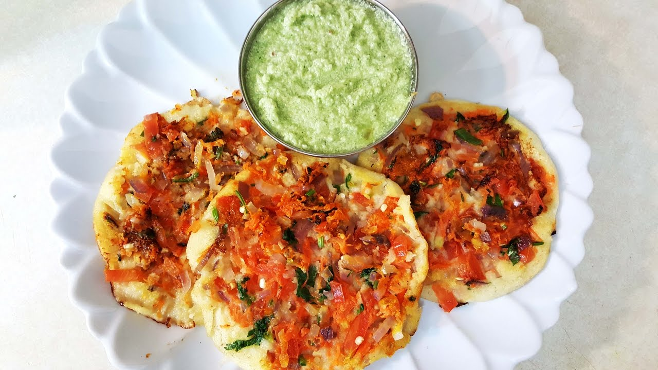 Instant Rava Uttappam South Indian Breakfast Recipe Youtube