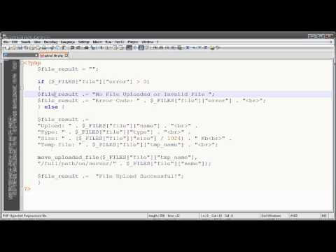 PHP - How to Upload a File to Your PHP Web Server - HTML Form and PHP Script Tutorial.avi