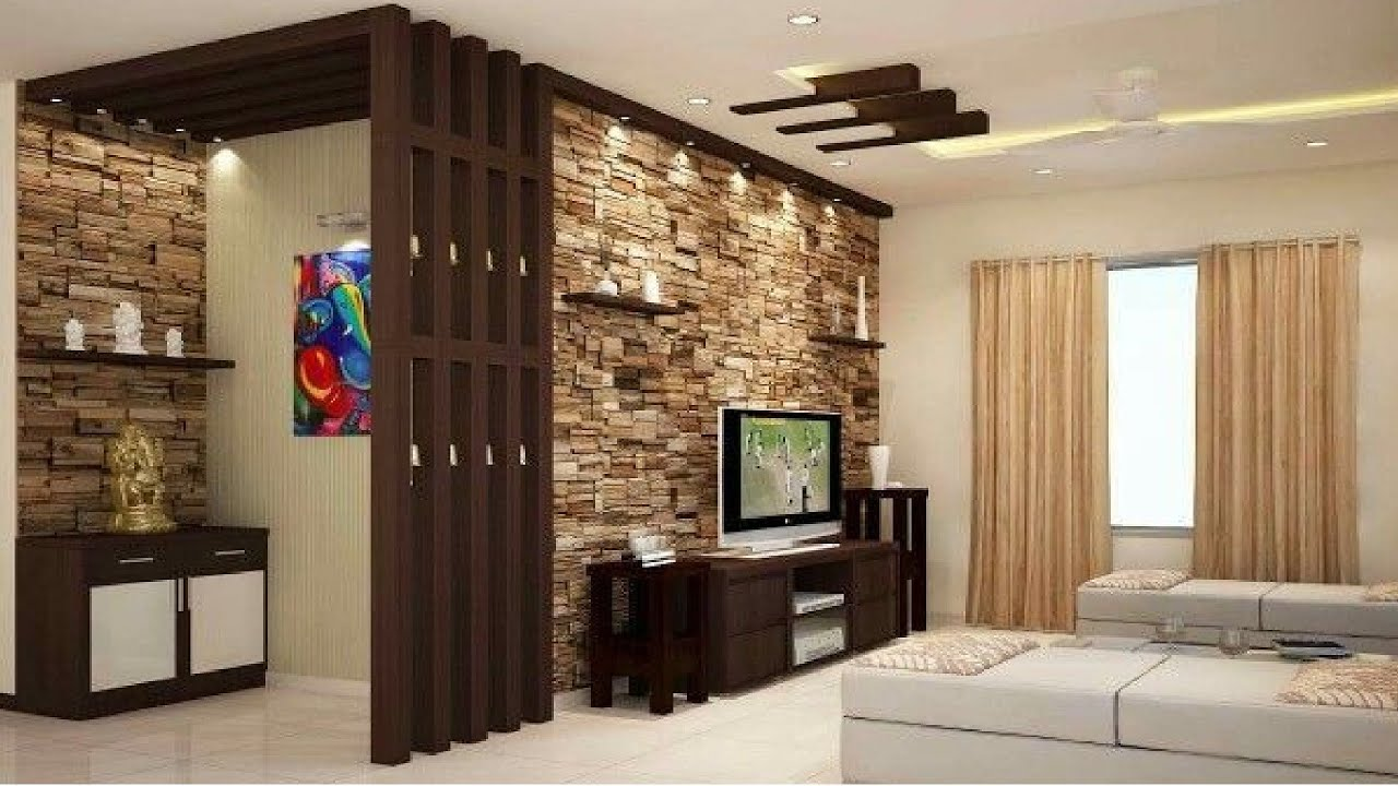 wall room living interior stone decorating
