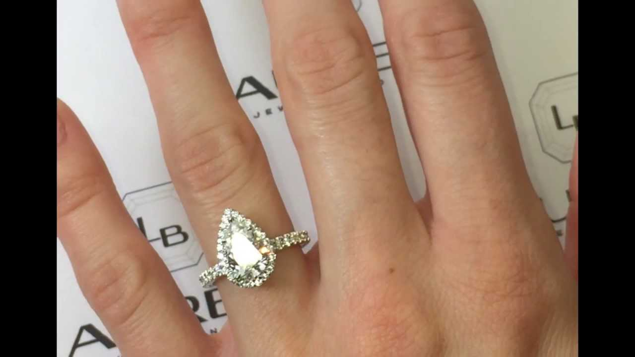 engagement halo gold and shaped blog pin diamond pear engagements on more stunning white the unique rings